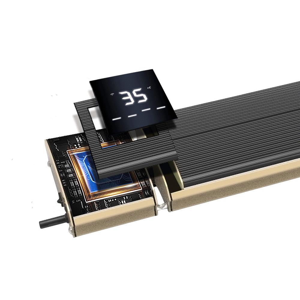 JH-NR-13W Controle Wifi decorativo aquecedor doméstico de parede elétrica Aquecedor de painel cerâmico infravermelho